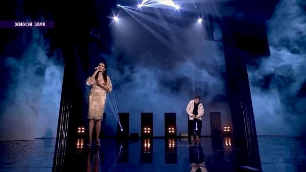 Выступление Эвелины Блёданс с финалистом шоу «Таланты»