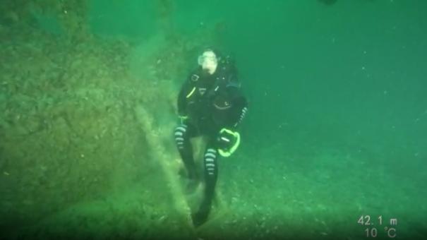 Новый рекорд в Крыму: парадайвер Григорий Галеев погрузился на глубину 42 метра (Эксклюзивное видео)